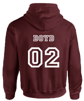 BEACON HILLS LACROSSE ON FRONT BOYD ON BACK HOODIE - INSPIRED BY TEEN WOLF